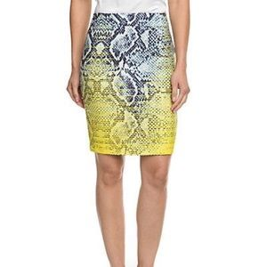 NORDSTROM Magaschoni Silk Snake Print Skirt NWT